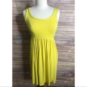J Crew yellow knit tank dress